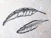 UMR-Design ST-036 Feathers SET Airbrushstencil Step by Step Size S 2cm x 8cm