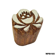 Floral Design Handcarved Wooden Printing Block Indian Wood Stamps Saree Border Decorative Print Fabric Brown Tattoo