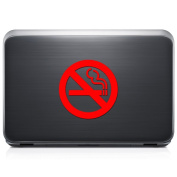 No Smoking Sign REMOVABLE Vinyl Decal Sticker For Laptop Tablet Helmet Windows Wall Decor Car Truck Motorcycle - Size (05 Inch / 13 Cm Tall) - Colour