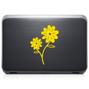Daisy Flower Petal REMOVABLE Vinyl Decal Sticker For Laptop Tablet Helmet Windows Wall Decor Car Truck Motorcycle - Size (05 Inch / 13 Cm Tall) - Colour