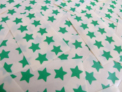 15mm Mid Green Star Shaped Labels, 180 Self-Adhesive Colour Code Stickers, Sticky Stars for Craft and Decoration