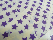 15mm Dark Purple Violet Star Shaped Labels, 180 Self-Adhesive Colour Code Stickers, Sticky Stars for Craft and Decoration