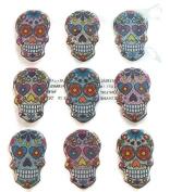 Sugar Skull Puffy Glitter Stickers