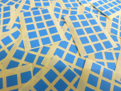 Small 10mm Square Mid Blue Colour Code Stickers, 150 Self-Adhesive Sticky Coloured Square Labels