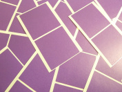 Large 51mm Square Dark Purple Violet Colour Code Stickers, 50 Self-Adhesive Sticky Coloured Square Labels