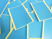 Large 99x65mm Rectangular Mid Blue Colour Code Stickers, 20 Self-Adhesive Sticky Coloured Rectangle Labels