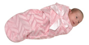 swuddles Bundle Bean Baby Blanket, Pink with Lines