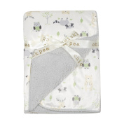Chick Pea Baby Grey Forest Soft Mink Printed Blanket with Sherpa Backing