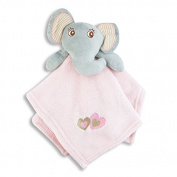 Ultra Soft Fleece Baby Blanket With Snuggly Elephant Security Blanket Set