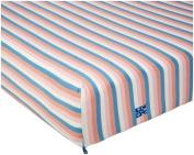 KicKee Pants Print Fitted Crib Sheet, Girl Salty Sea Stripe
