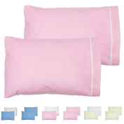 Angel Dreams 2-Pack Toddler Pillowcases 13x18. Cotton. Machine Washable