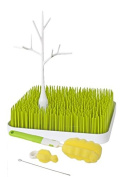 Boon Grass Drying Rack Bundle with Boon Drying Twig and Bottle Brush Set - Green