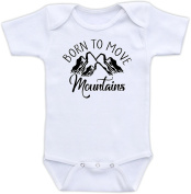 Born To Move Mountains - Cute Baby Bodysuit Gender Neutral Unisex Baby Clothes