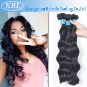 KBL(KaBeiLu) Brazilian Virgin Hair Loose Wave Human Hair Extensions 1 Bundle Natural Black