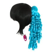 Ringlet Curly Clip - Peacock Blue 46cm Pony Tail