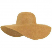 Keyzone Charming 1X Women Multicolor Folding Summer Floppy Sun Hat Straw Beach Wide Large Brim Cap Orange Beautiful