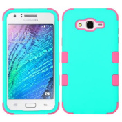 MyBat Cell Phone Case for Samsung Galaxy J7 - Teal Green/Electric Pink