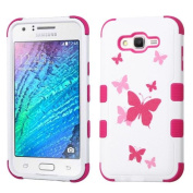 MyBat Cell Phone Case for Samsung Galaxy S7 - Butterfly Dancing/Hot Pink