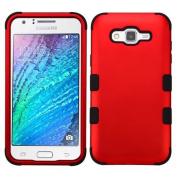 MyBat Cell Phone Case for Samsung Galaxy J7 - Titanium Red/Black