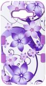 MyBat Cell Phone Case for Samsung Galaxy J7 - Purple Hibiscus Flower Romance/Electric Purple