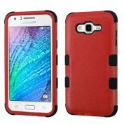 MyBat TUFF Hybrid Cover for SAMSUNG Galaxy J7 (2015) - Natural Red/Black