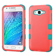 MyBat TUFF Hybrid Cover for SAMSUNG Galaxy J7 (2015) - Natural Baby Red/Tropical Teal