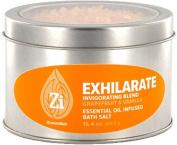 Exhilarate Invigorating Blend (Grapefruit & Vanilla) Bath Salts. 470ml Windowed Tin - Zi