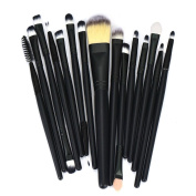 Kwok Brush,15pcs Makeup Brush Set tools Make-up Toiletry Kit Wool Make Up Brush Set