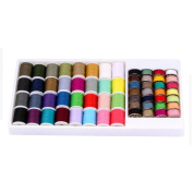 Polyester Metal Robbin Thread Spool Sewing Thread For Hand Machine 60pcs Mixed Colours