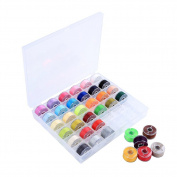 Valar Dohaeris 36 Pcs Assorted Colours Sewing Thread Bobbins with Case for Brother Singer Babylock Elna Janome Kenmore