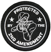 PROTECTED BY THE 2ND AMENDMENT ROUND PATCH - Colour - Veteran Owned Business.