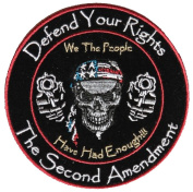 DEFEND YOUR RIGHTS WE THE PEOPLE HAVE HAD ENOUGH 2ND AMENDMENT ROUND PATCH - Colour - Veteran Owned Business.
