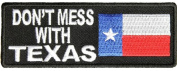 DON'T MESS WITH TEXAS WITH FLAG PATCH - Colour - Veteran Owned Business.
