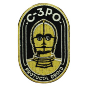 "Star Wars ""C-3PO Protocol Droid"" Iron-On Patch Character Fan Decoration Applique"