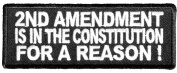 2ND AMENDMENT IS IN THE CONSTITUTION FOR A REASON PATCH - Colour - Veteran Owned Business.