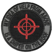 SNIPER ON THE ROOF ROUND PATCH - Colour - Veteran Owned Business.