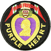 PURPLE HEART OPERATION IRAQI FREEDOM ROUND PATCH - Colour - Veteran Owned Business.