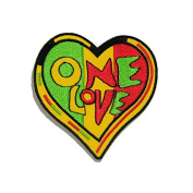 One Love Reggae DIY Embroidered Sew Iron on Patch
