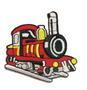 Train Engine Choo Choo Railroad Locomotive DIY Embroidered Sew Iron on Patch