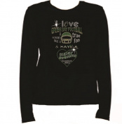 Rhinestone Green Bay Football I LOVE T Shirt LR MZ6F