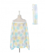 LittleJump Premium Quality Nursing Breastfeeding cover with pockets  .   Matching Pouch | 100% cotton | Extra wide