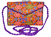 Ethnic Bags Purses Women Vintage Thread Embroidered Work Clutch Bags