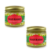 BALM! Baby MAD Rash Natural Nappy Balm Skin Aid with ZINC (2oz/60mL) Pack of 2