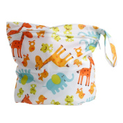 MEXUD Baby Protable Nappy Zipper Nappy Bag Washable Nappy Wet Dry Cloth Waterproof