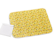 Baby Loovi Portable Reusable Baby Changing Mat for Home and Travel-Large Size 80 x 65 cm with Multifunction Storage Bag-Bright Colour Waterproof Nappy Change Pad-Safe for Kids-Guarantee