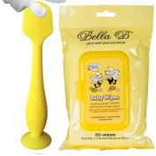 Bundle - BabyBum Nappy Cream Brush and Bella B Baby Wipes - Yellow
