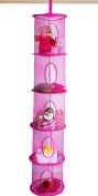 5 Tier Storage Organiser - 30cm X 150cm - Hang in Your Children's Room or Closet for a Fun Way to Organise Kids Toys or Store Gloves, Shawls, Hats and Mittens. Attaches Easily to Any Rod.