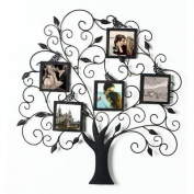 5 Opening Collage Wall Picture Frame, Black