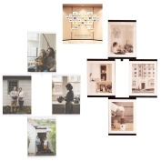 Collage Acrylic Photo Frame Set,Display Pictures 8x10,Infinite Connectable DIY Layouts Home Decor, 4-Pack