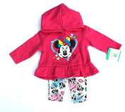 Baby Girls Minne Mouse Hooded Shirt & Leggings Size 3/6 Months